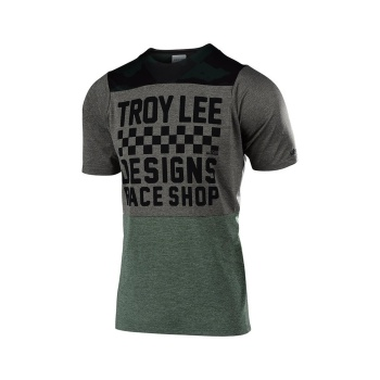 Troy Lee Designs Skyline Checkers Shirt met Korte Mouwen Camo/Taupe 2019