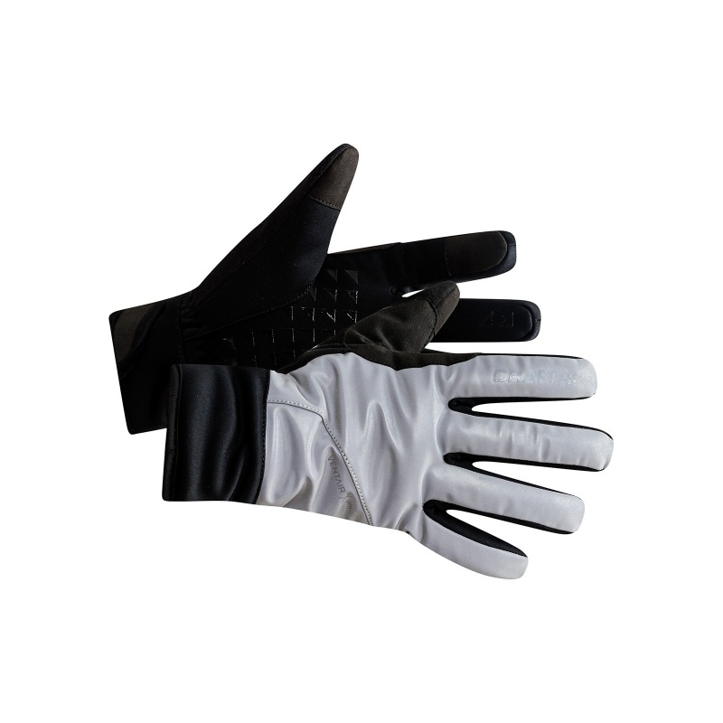 Gants Craft Siberian Argent/Noir 2020