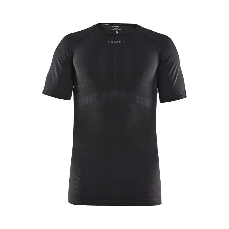 Craft Active Intensity Ondershirt met Korte Mouwen Zwart/Asfalt 2020