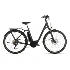 Cube 2020 Vélo Electrique Cube Town Sport Hybrid Pro 400 Easy Entry Iridium/Rouge 2020 (332400)