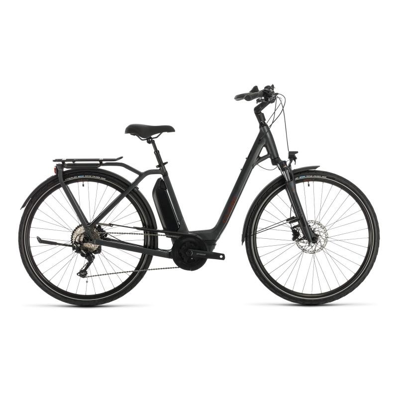 Vélo Electrique Cube Town Sport Hybrid Pro 500 Easy Entry Iridium/Rouge 2020 (332401)