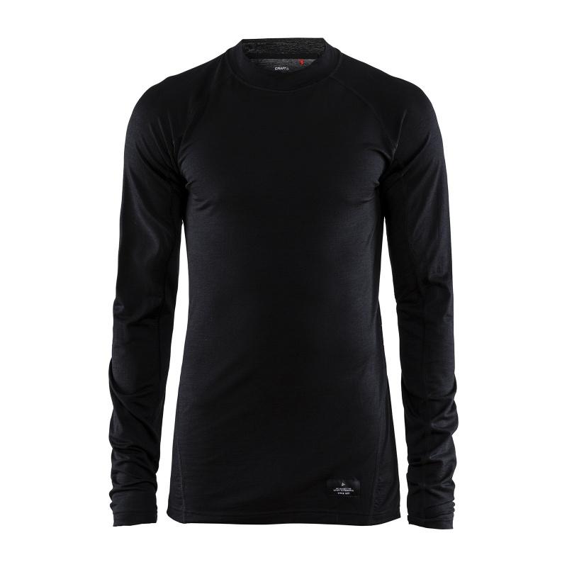 Craft Merino Lightweight Ondershirt met Lange Mouwen Zwart 2020