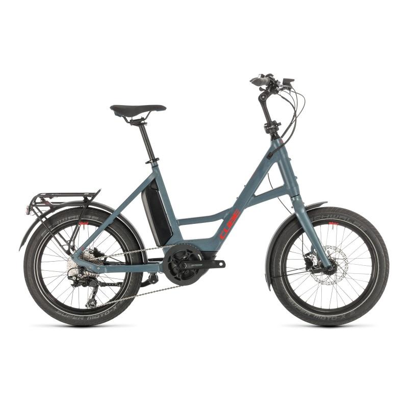 Vélo Electrique Cube Compact Sport Hybrid 500 Bleu/Rouge 2021 (489160)