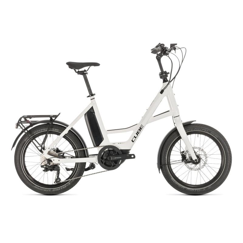 Vélo Electrique Cube Compact Sport Hybrid 500 Blanc/Noir 2020  (389150)