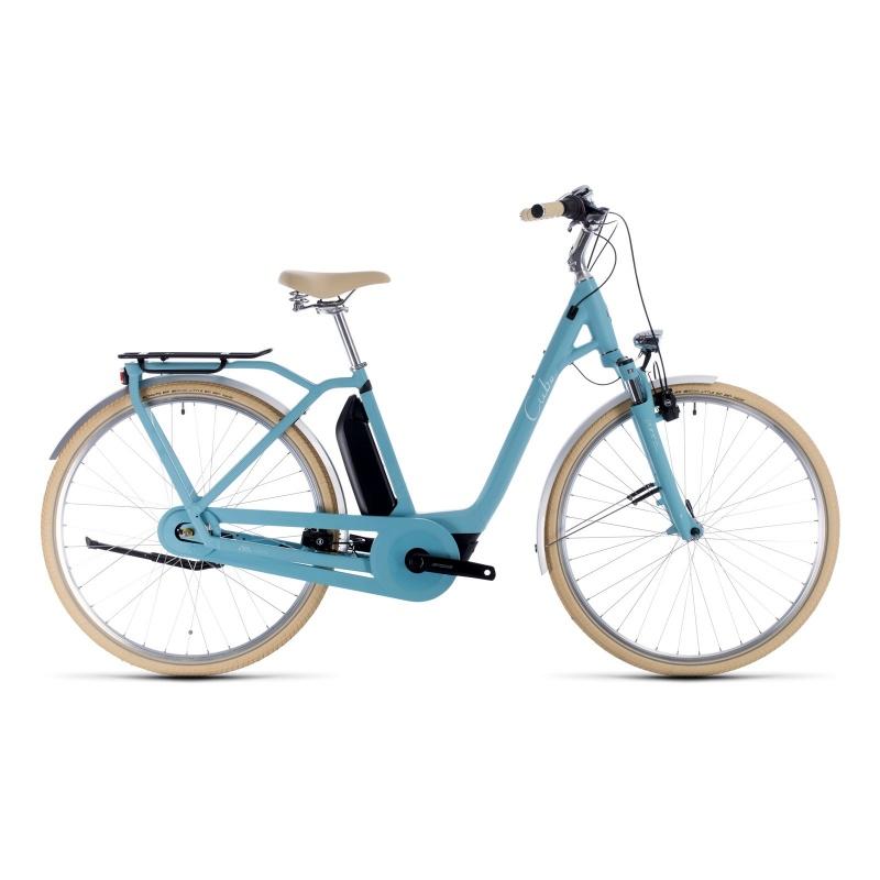 Vélo Electrique Cube Ella Cruise Hybrid 400 Easy Entry Bleu/Bleu 2020 (332600)