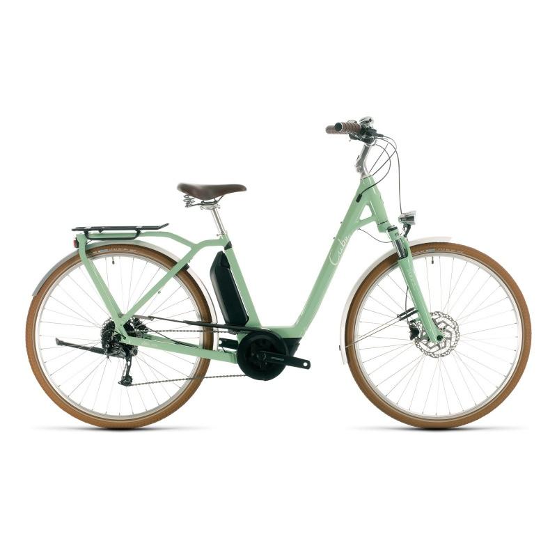 Vélo Electrique Cube Ella Ride Hybrid 400 Easy Entry Vert/Blanc 2020 (332500)