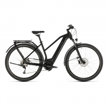 Vélo Electrique Cube Kathmandu Hybrid One 500 Trapèze Noir/Gris 2020 (331171)