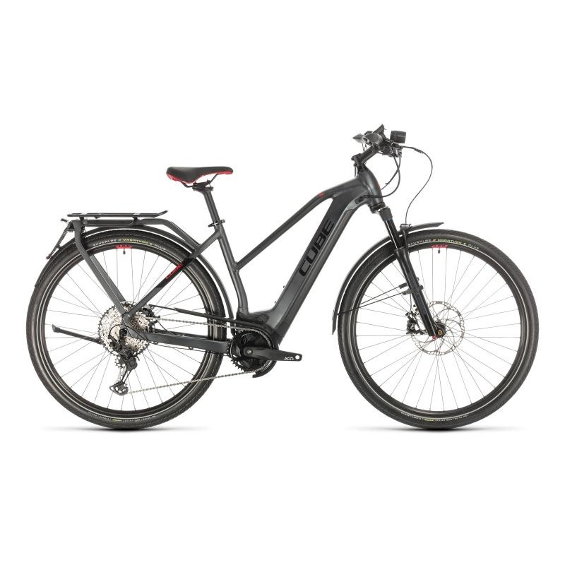 Vélo Electrique 45 km/h Cube Kathmandu Hybrid 45 625 Trapèze Iridium/Rouge 2020 (331402)