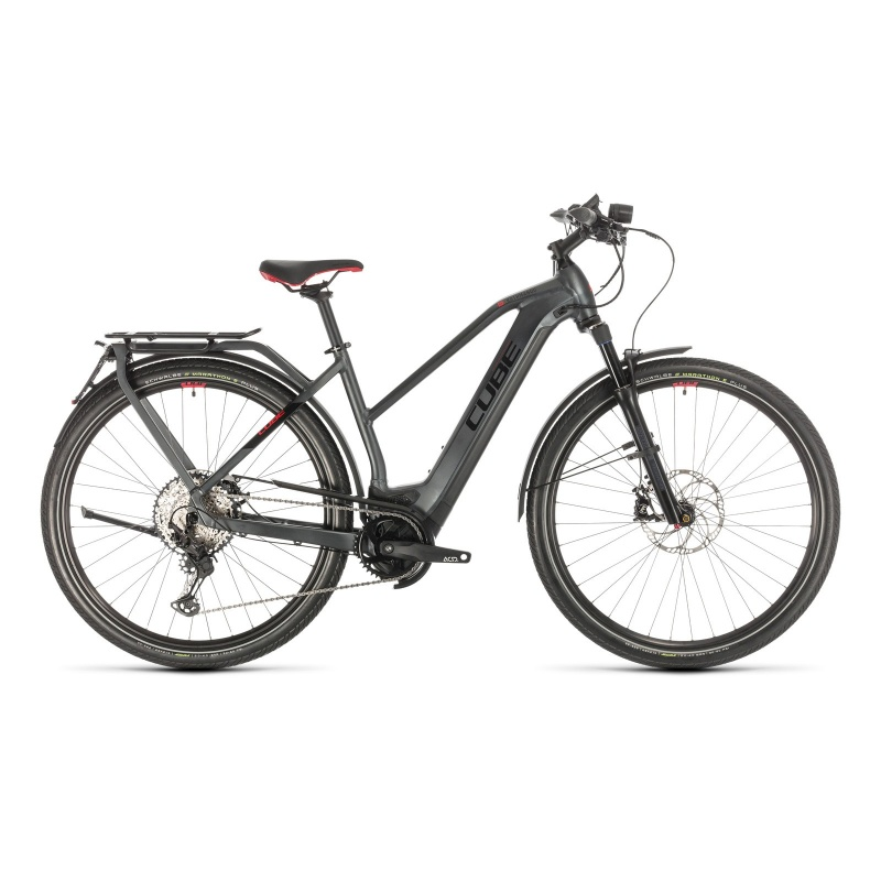 Vélo Electrique 45 km/h Cube Kathmandu Hybrid 45 625 Trapèze Iridium/Rouge 2021 (431402) (331402)