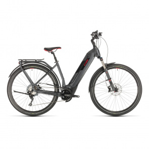 Cube 2020 Vélo Electrique Cube Kathmandu Hybrid EXC 500 Easy Entry Iridium/Rouge 2020 (331251)