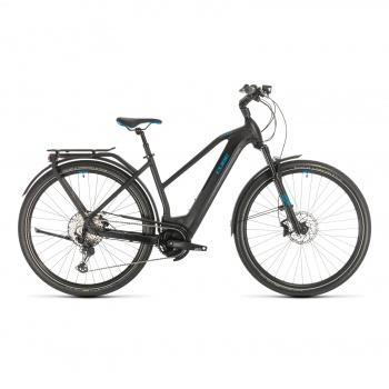 Vélo Electrique Cube Kathmandu Hybrid SL 625 Trapèze Noir/Bleu 2020 (331302)