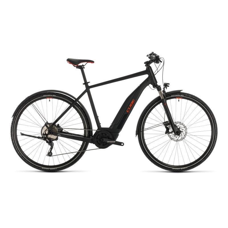 Vélo Electrique Cube Nature Hybrid EXC Allroad 500 Noir/Rouge 2020 (330151)