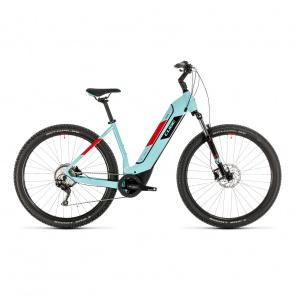 """Cube 2020 Vélo Electrique 29"""" Cube Nuride Hybrid Pro 500 Easy Entry Bleu/Rouge 2020 (332751)"""