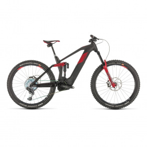 "Cube - Promo Cube Stereo Hybrid 160 HPC SLT 625 Elektrische 27.5"" MTB Carbon/Rood 2020 (337302)"