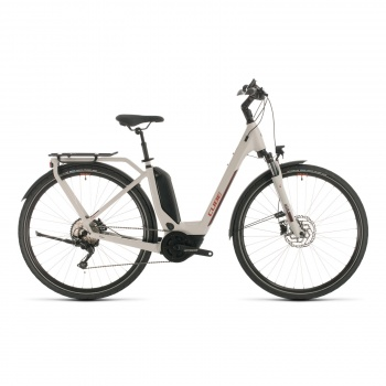 Cube Touring Hybrid Pro 500 Easy Entry Elektrische Fiets Grijs/Rood 2020 (331111)