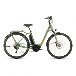 Cube 2020 Vélo Electrique Cube Town Sport Hybrid Pro 500 Easy Entry Vert/Orange 2020 (332411)