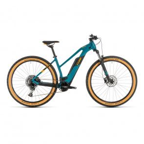 """Cube 2020 Vélo Electrique 29"""" Cube Reaction Hybrid Pro 500 Trapèze Vert Pin/Orange 2020 (334111)"""