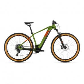 """Cube 2020 Vélo Electrique 29"""" Cube Reaction Hybrid EX 500 Vert/Orange 2020 (334261)"""