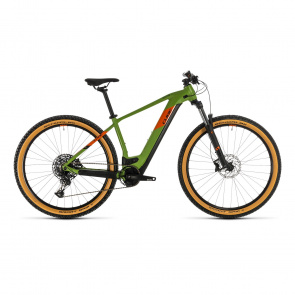 """Cube 2020 Vélo Electrique 29"""" Cube Reaction Hybrid EX 625 Vert/Orange 2020 (334262)"""