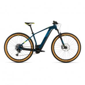 """Cube 2020 Vélo Electrique 29"""" Cube Reaction Hybrid SL 625 Bleu/Jaune 2020 (334362)"""
