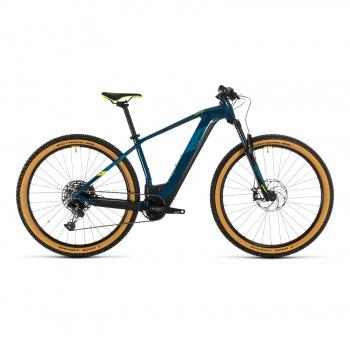 """Vélo Electrique 29"""" Cube Reaction Hybrid SL 625 Bleu/Jaune 2020 (334362)"""