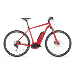 Cube - Promo Vélo Electrique Cube Cross Hybrid Pro 500 Rouge/Gris 2019 (230211)