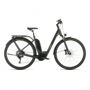 Cube 2020 Vélo Electrique Cube Touring Hybrid EXC 500 Easy Entry Iridium/Vert 2020 (331151)