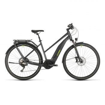 Vélo Electrique Cube Touring Hybrid EXC 500 Trapèze Iridium/Vert 2020 (331151)