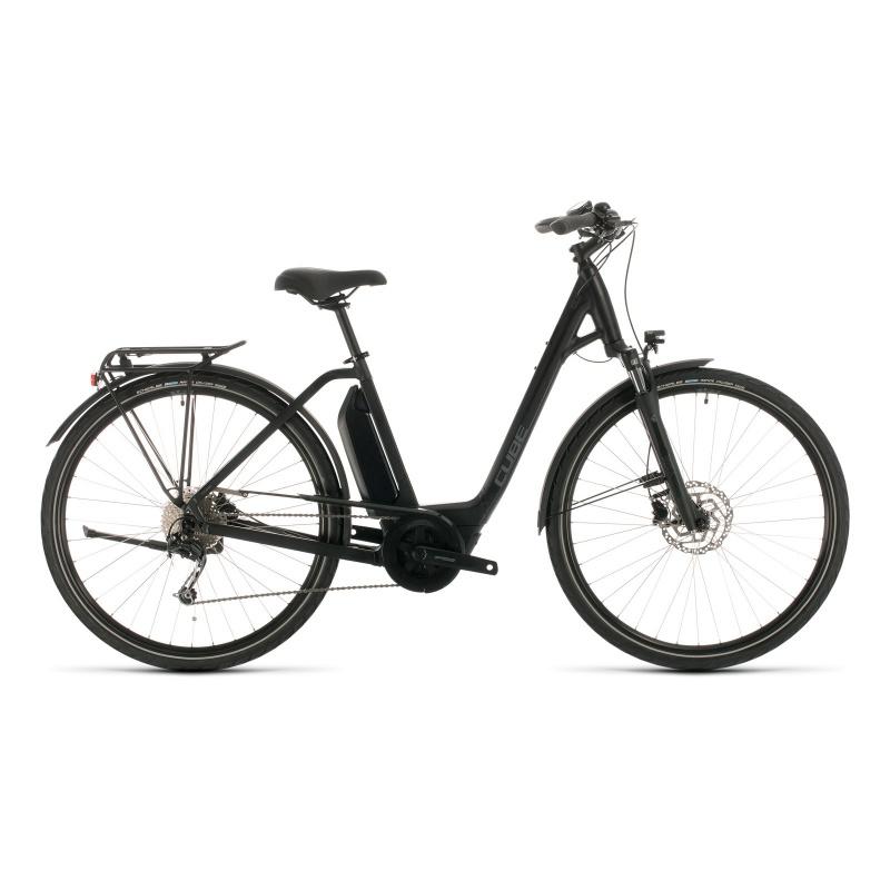 Vélo Electrique Cube Town Sport Hybrid One 400 Easy Entry Noir/Gris 2020 (332350)