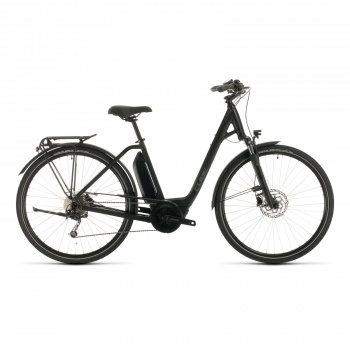 Vélo Electrique Cube Town Sport Hybrid One 500 Easy Entry Noir/Gris 2020 (332351)