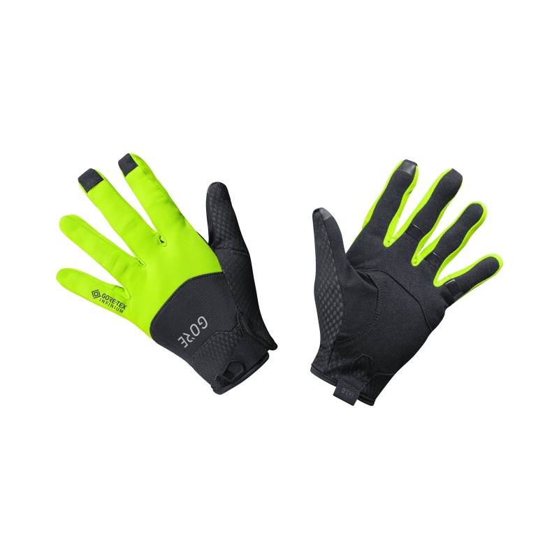 Gants Gore Wear Gore-Tex Infinium Noir/Jaune Néon 2019-2020