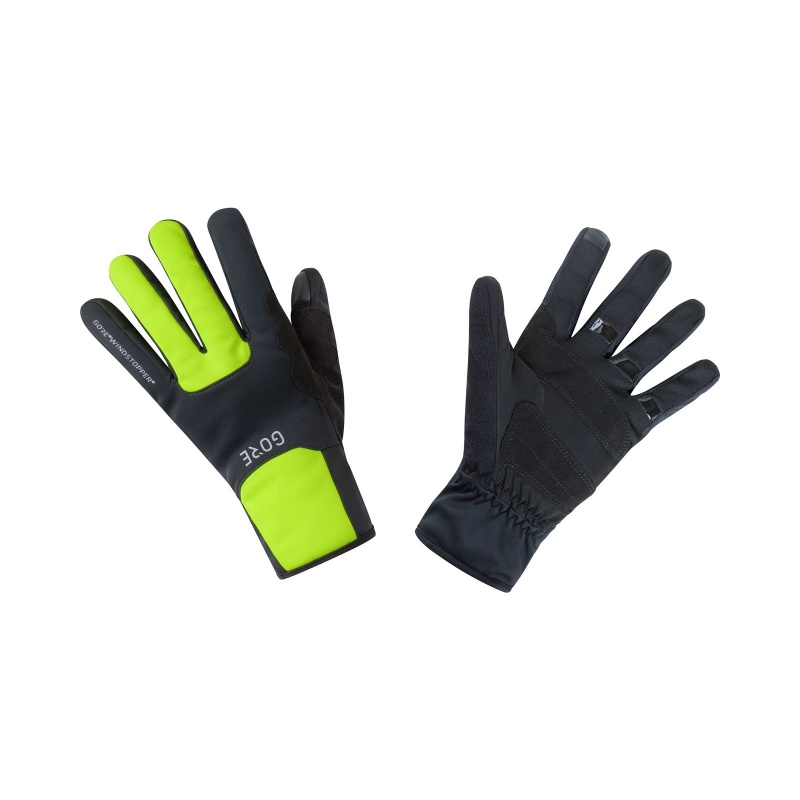 Gants Gore Wear Windstopper Thermo Noir/Jaune Néon 2020-2021