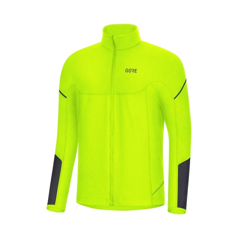 Gore Wear Thermo Zip Shirt met Lange Mouwen Neon Geel/Zwart 2019-2020