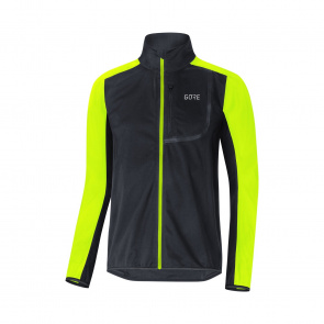 Gore Bike Wear Veste Gore Wear C3 Windstopper Noir/Jaune Néon 2019-2020