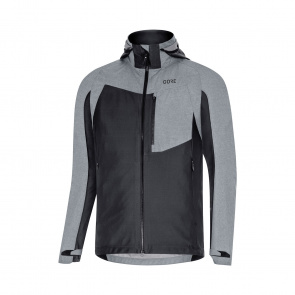 Gore Bike Wear Veste Gore Wear C5 Gore-Tex Infinium Hybrid Hooded Noir/Gris Terra 2019-2020