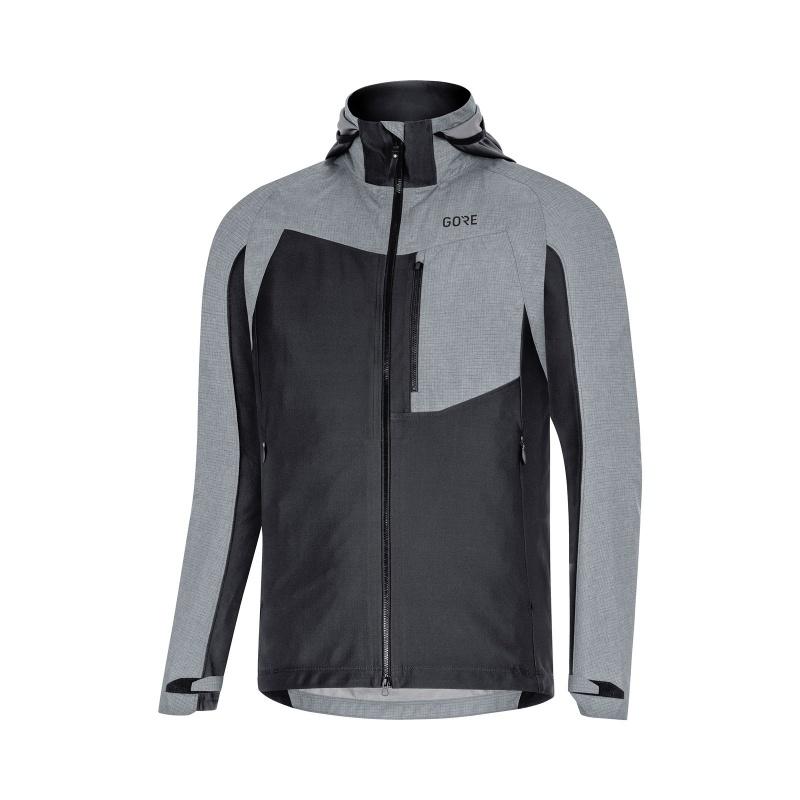 Veste Gore Wear C5 Gore-Tex Infinium Hybrid Hooded Noir/Gris Terra 2019-2020
