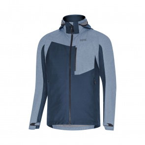 Gore Bike Wear Veste Gore Wear C5 Gore-Tex Infinium Hybrid Hooded Bleu 2019-2020