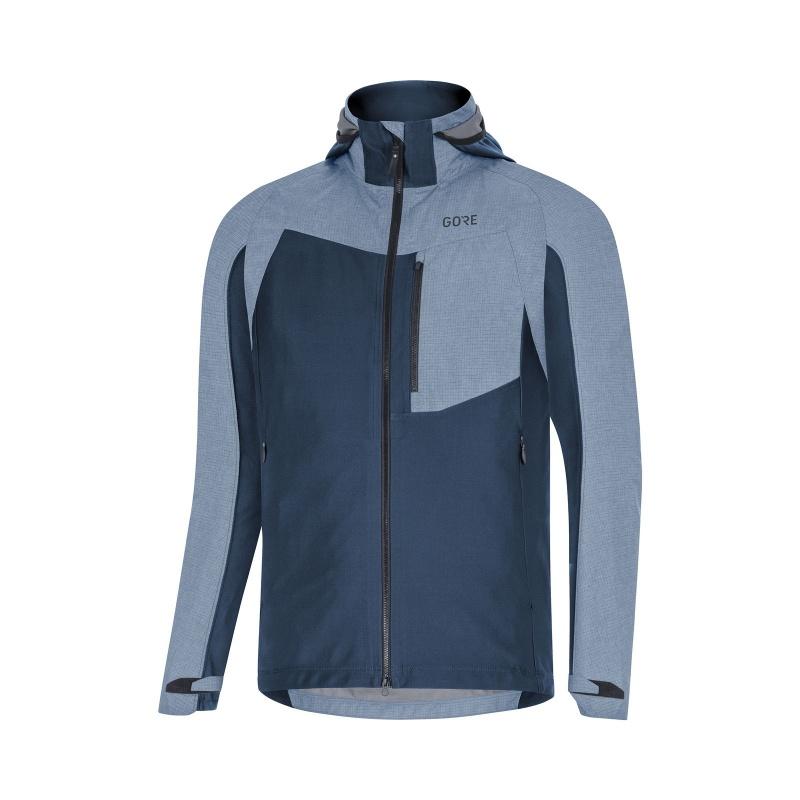 Gore Wear C5 Gore-Tex Infinium Hybrid Hooded Jas Blauw 2019-2020
