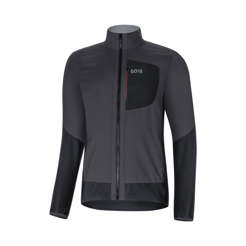 Gore Wear C5 Windstopper Insulated Jas Terra Grijs/Zwart 2019-2020