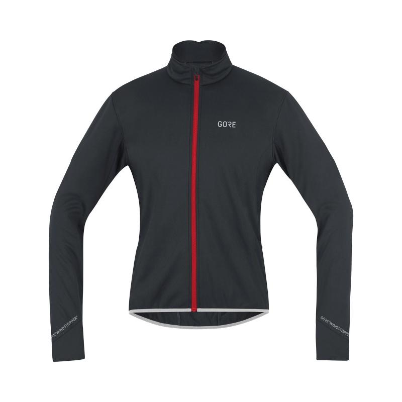 Veste Gore Wear C5 Windstopper Thermo Noir/Rouge 2019-2020