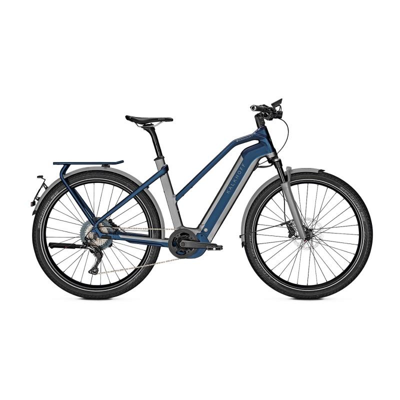 Vélo Electrique 45 km/h Kalkhoff Endeavour 7.B Excite 45 625 Trapèze Gris/Bleu 2021 (637528815-7) (637528817)