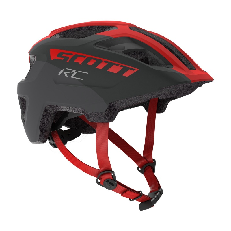 Casque Enfant Scott Spunto Junior RC Gris/Rouge 2020