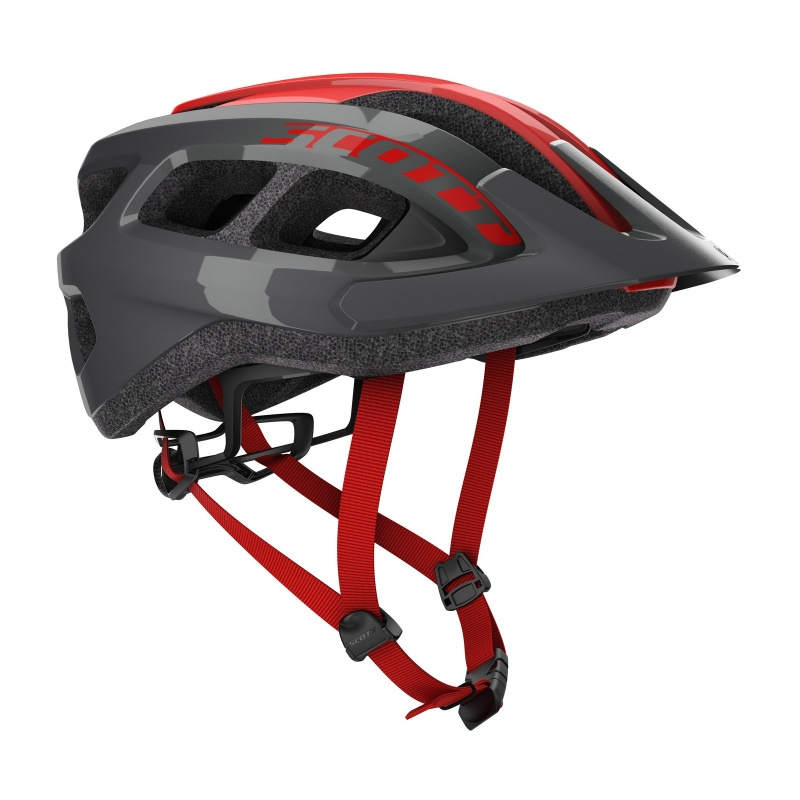Casque Scott Supra Gris/Rouge 2021