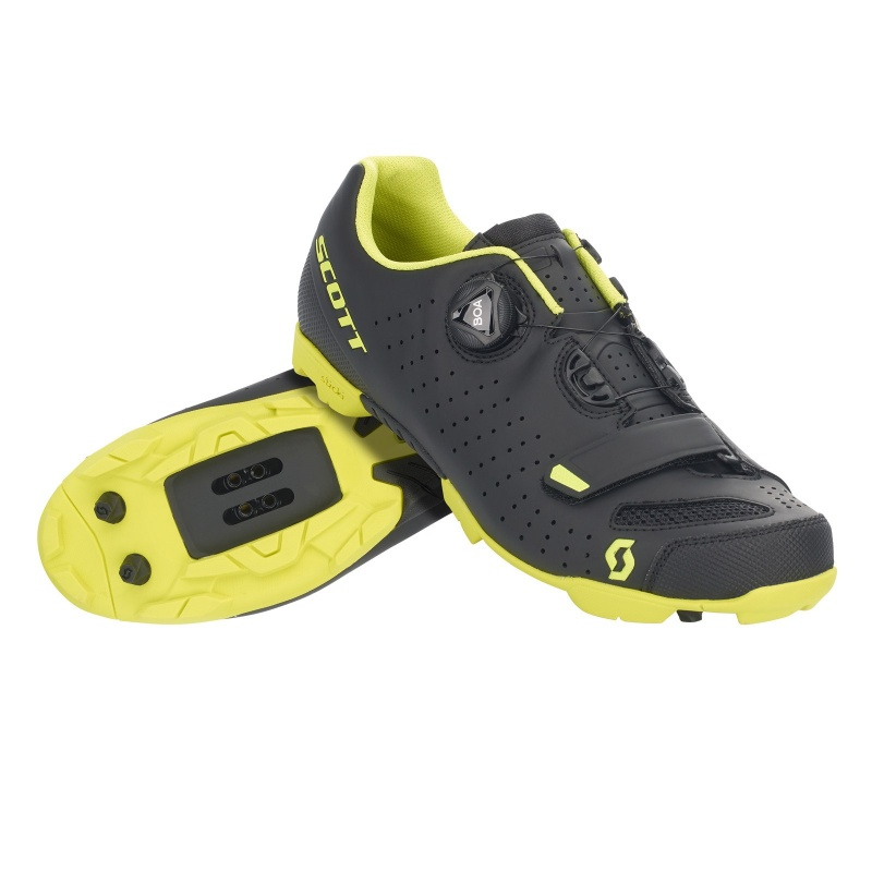 Chaussures VTT Scott Comp Boa Noir Mat/Jaune 2021