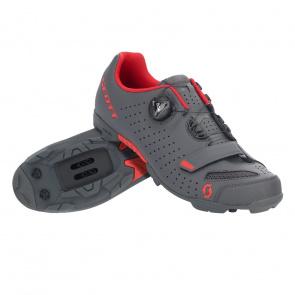 Scott textile Chaussures VTT Scott Comp Boa Gris Foncé Mat/Rouge 2020