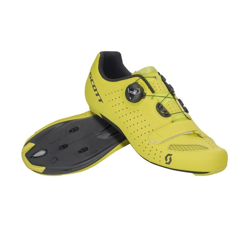 Chaussures Route Scott Comp Boa Jaune Mat/Noir 2020