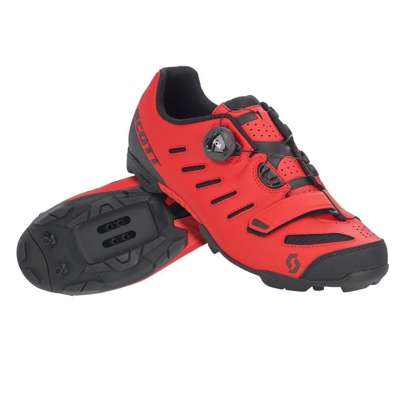 Chaussures VTT Scott Team Boa Rouge Mat/Noir Mat 2020