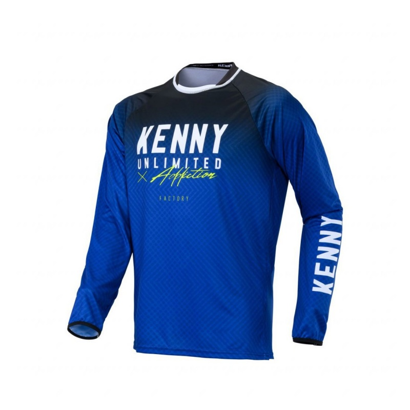 Maillot Manches Longues Kenny Factory Bleu 2020