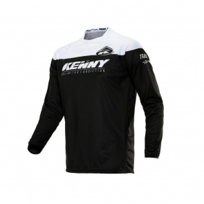 Kenny Maillot Manches Longues Kenny Track Raw Noir/Blanc 2020