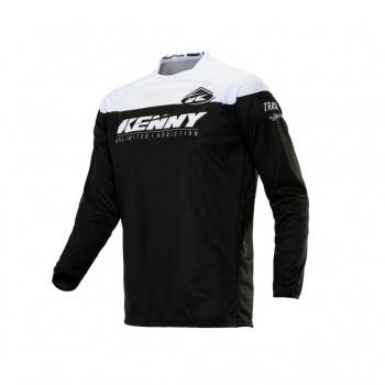 Kenny Track Raw Shirt met Lange Mouwen Zwart/Wit 2020